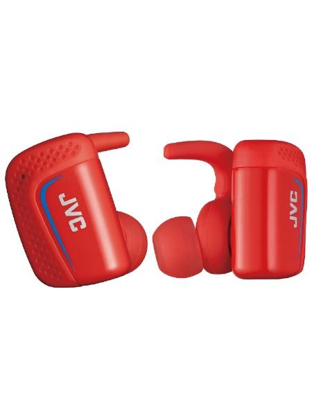 【送料無料】 JVC ジェイブイシー フルワイヤレスイヤホン HA-ET900BT-R レッド [防滴&左右分離タイプ /Bluetooth]