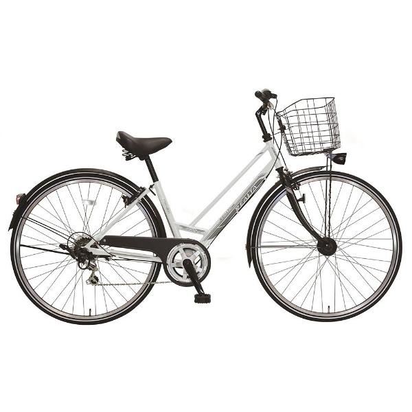 【送料無料】 MARUKIN 27型 自転車 レアルタシティ 276-K(ホワイト/外装6段変速) MK-18-027【2018年モデル】【組立商品につき返品不可】 【代金引換配送不可】【メーカー直送・代金引換不可・時間指定・返品不可】