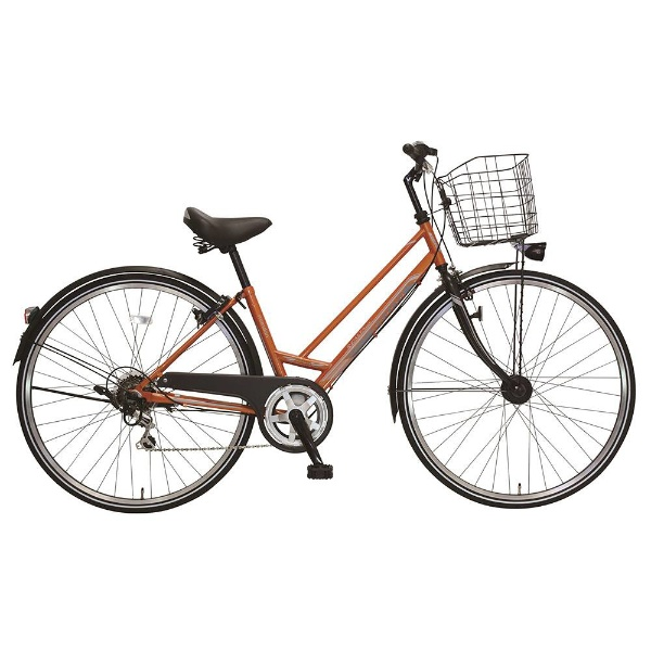 【送料無料】 MARUKIN 27型 自転車 レアルタシティ 276-K(オレンジ/外装6段変速) MK-18-027【2018年モデル】【組立商品につき返品不可】 【代金引換配送不可】【メーカー直送・代金引換不可・時間指定・返品不可】