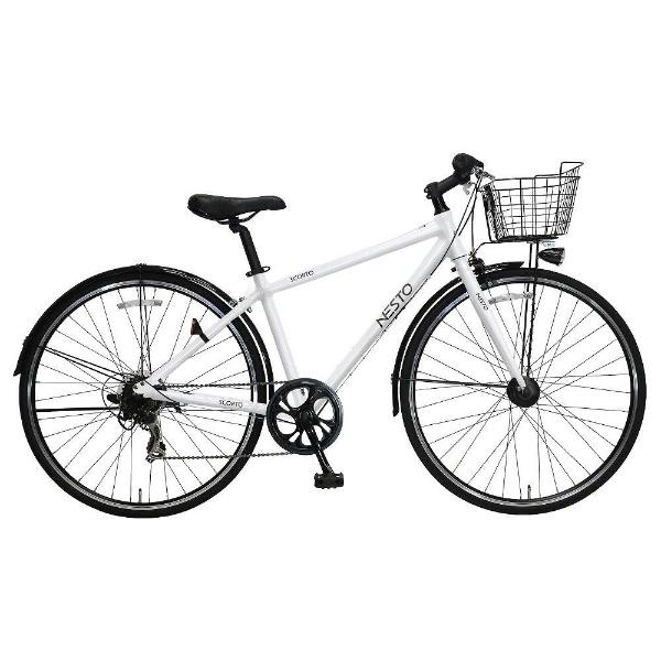【送料無料】 NESTO 700×28C型 クロスバイク スコルト-J(ホワイト/420サイズ《適応身長:150cm以上》) NE-17-003【2018年モデル】【組立商品につき返品不可】 【代金引換配送不可】【メーカー直送・代金引換不可・時間指定・返品不可】