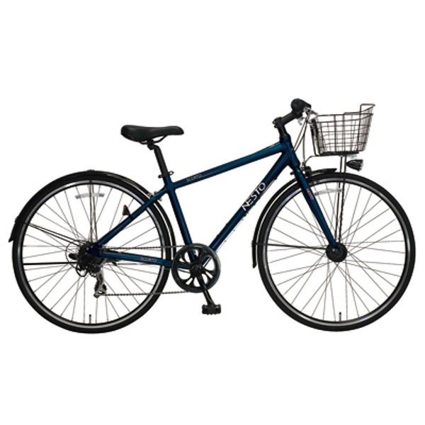 【送料無料】 NESTO 700×28C型 クロスバイク スコルト-J(ブルー/420サイズ《適応身長:150cm以上》) NE-17-003【2018年モデル】【組立商品につき返品不可】 【代金引換配送不可】【メーカー直送・代金引換不可・時間指定・返品不可】