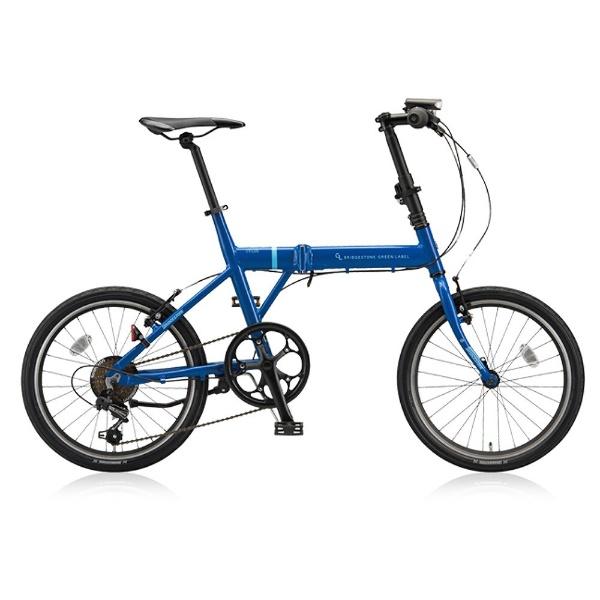 【送料無料】 ブリヂストン 20型 折りたたみ自転車 CYLVA F6F(ソリッドブルー/6段変速) VF6F20【2018年モデル】【組立商品につき返品不可】 【代金引換配送不可】