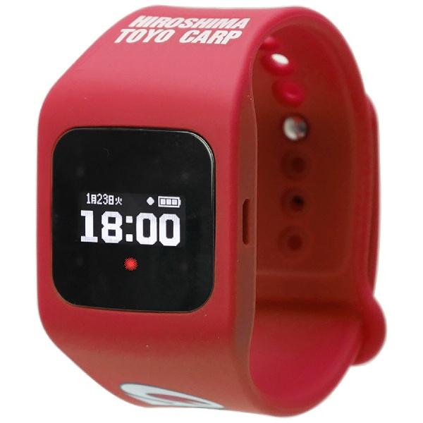 【送料無料】 シャープ SHARP ウェアラブル端末(ウォッチタイプ)カープ赤2018年モデル 「funband(ファンバンド)」 SA-BY009 赤[SABY009]