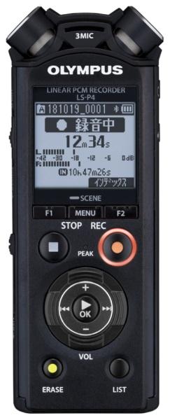 【送料無料】 オリンパス リニアPCMレコーダー LS-P4BLK ブラック [Bluetooth対応 /8GB /ハイレゾ対応]