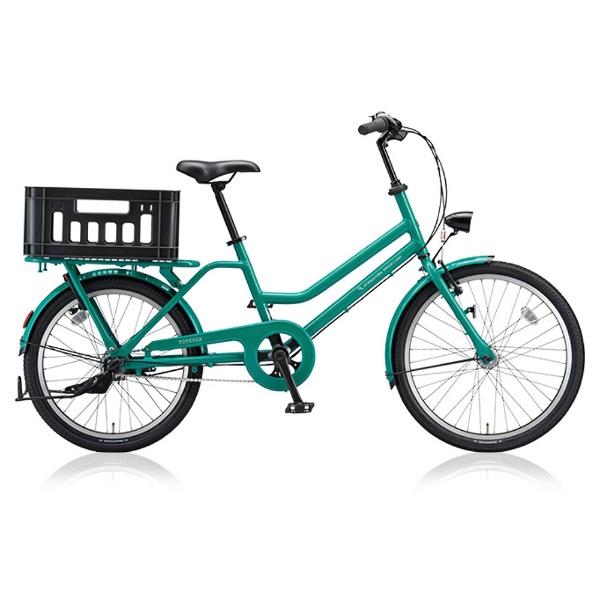 【送料無料】 ブリヂストン 24/22型 自転車 トートボックス LARGE(E.Xコバルトグリーン/内装3段変速) TBX43T【2018年モデル】【組立商品につき返品不可】 【代金引換配送不可】