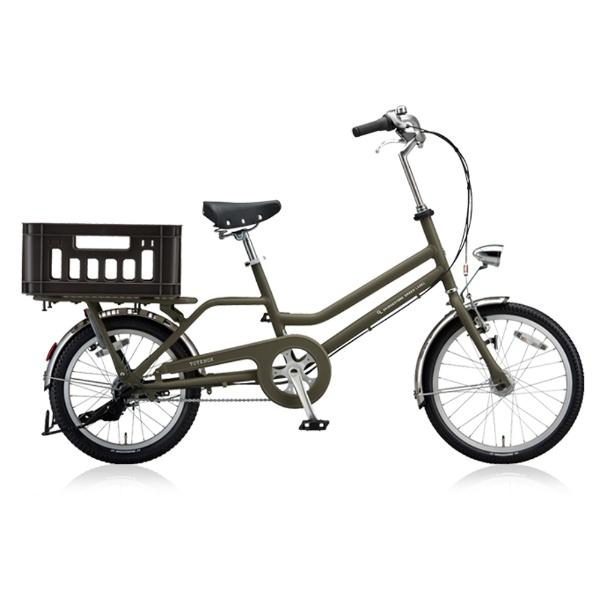 【送料無料】 ブリヂストン 20/18型 自転車 トートボックス SMALL(T.Xマットカーキ/内装3段変速) TBX03T【2018年モデル】【組立商品につき返品不可】 【代金引換配送不可】