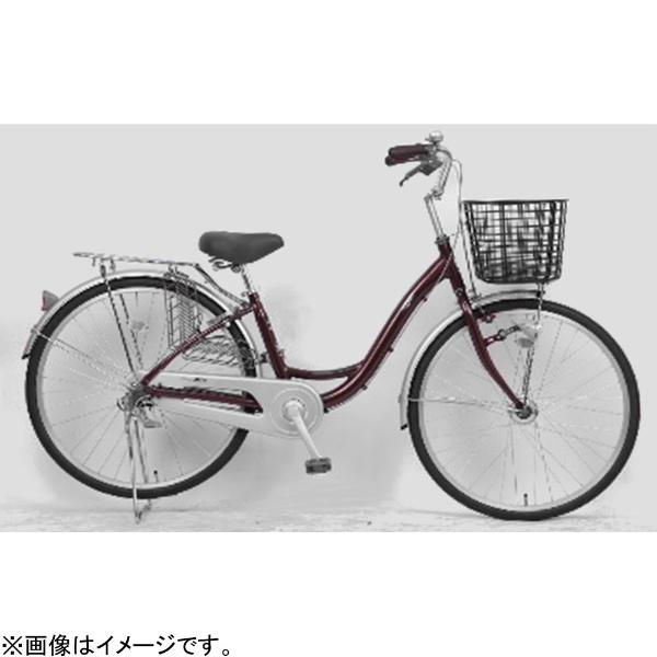 【送料無料】 サイモト自転車 26型 自転車 アネモネライト(ボルドー/シングルシフト) FL-W260RAL-HD-BAA【組立商品につき返品不可】 【代金引換配送不可】【メーカー直送・代金引換不可・時間指定・返品不可】