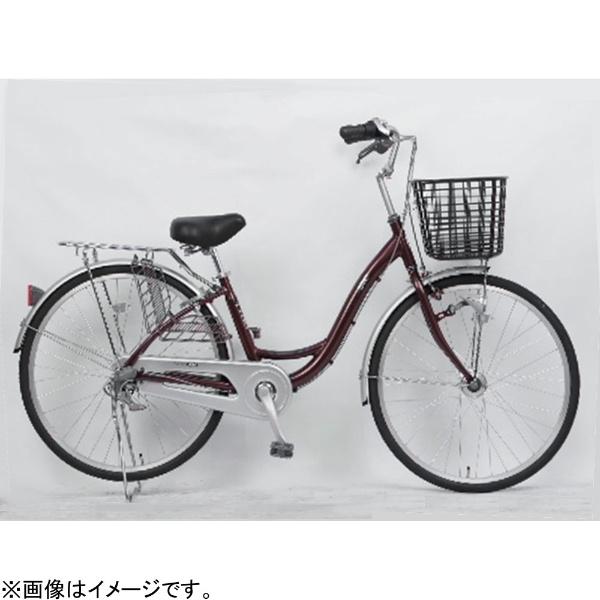 【送料無料】 サイモト自転車 26型 自転車 アネモネライト(ボルドー/内装3段変速) FL-W263RAL-HD-BAA【組立商品につき返品不可】 【代金引換配送不可】【メーカー直送・代金引換不可・時間指定・返品不可】