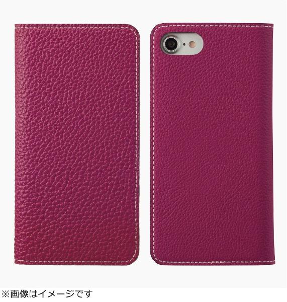【送料無料】 アンワインド iPhone 8用 手帳型レザーケース BONAVENTURA German Togo leather diary case パープル BOTD8-P-U-RT