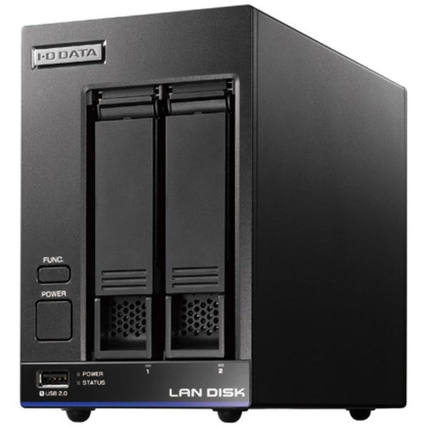 【送料無料】 I-O DATA アイ・オー・データ ネットワークHDD 4TB[有線LAN/USB3.0・Android/iOS/Mac/Win] 高性能CPU&NAS用HDD WD Red搭載 2ドライブ スタンダードビジネスNAS HDL2-X4 ブラック
