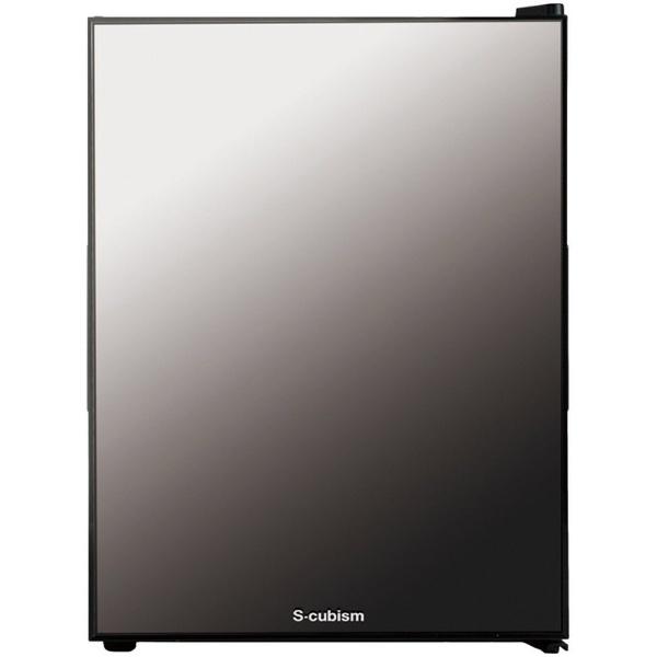 【標準設置費込み】 エスキュービズムエレクトリック S-cubism 《基本設置料金セット》WRH-M140 冷蔵庫 ブラック [1ドア /右開き/左開き付け替えタイプ /40L]