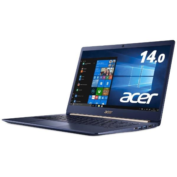 【送料無料】 ACER エイサー SF514-52T-H58Y/B ノートパソコン Swift 5 チャコールブルー [14.0型 /SSD:512GB /メモリ:8GB /2018年2月モデル]