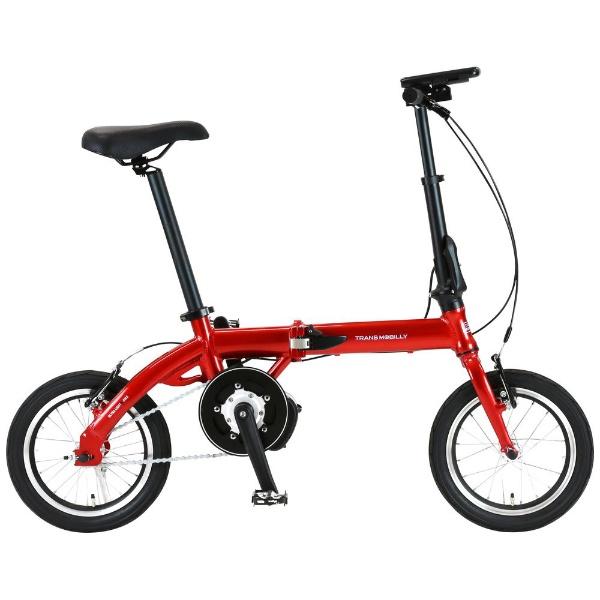 【送料無料】 ジック 14型 電動折りたたみ自転車 ULTRA LIGHT E-BIKE TRANS MOBILLY(レッド/シングルシフト) 92201-02 【代金引換配送不可】