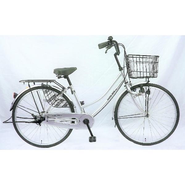 【送料無料】 サイモト自転車 26型 自転車 パティオボックスSE(シルバー/シングルシフト) FW-B260BA-BC-BAA 【代金引換配送不可】【メーカー直送・代金引換不可・時間指定・返品不可】