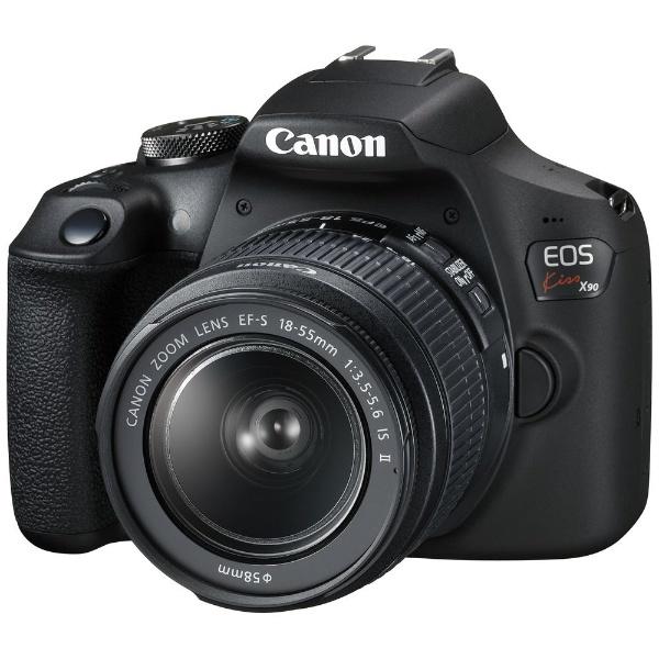 【送料無料】 キヤノン CANON EOS Kiss X90(W)【EF-S18-55 IS II レンズキット】/デジタル一眼レフカメラ[EOSKISSX901855IS2LK]