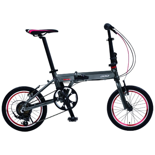 【送料無料】 マセラティ 16型 折りたたみ自転車 マセラティ AL-FDB167(グレー/外装7段変速) 68203-14【組立商品につき返品不可】 【代金引換配送不可】