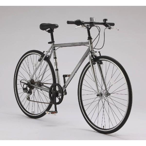 【送料無料】 サイモト自転車 700×28C型 クロスバイク Wanp Cross(ガンメタ/510サイズ《適応身長:160cm以上》)CRーB7006V-510【組立商品につき返品不可】 【代金引換配送不可】【メーカー直送・代金引換不可・時間指定・返品不可】