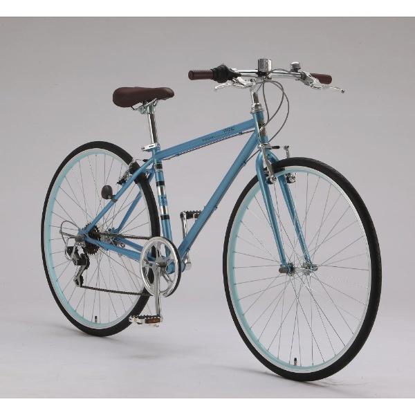 【送料無料】 サイモト自転車 700×28C型 クロスバイク Wanp Cross(スカイブルー/420サイズ《適応身長:150cm以上》)CRーW7006V-420【組立商品につき返品不可】 【代金引換配送不可】【メーカー直送・代金引換不可・時間指定・返品不可】