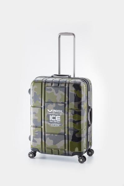【送料無料】 A.L.I アジア・ラゲージ TSAロック搭載スーツケース ハードキャリー(72L) 59187 グリーンカモフラージュ 【メーカー直送・代金引換不可・時間指定・返品不可】