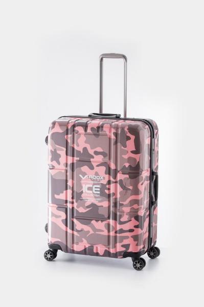 【送料無料】 A.L.I TSAロック搭載スーツケース ハードキャリー(84L) 59188 ピンクカモフラージュ 【メーカー直送・代金引換不可・時間指定・返品不可】
