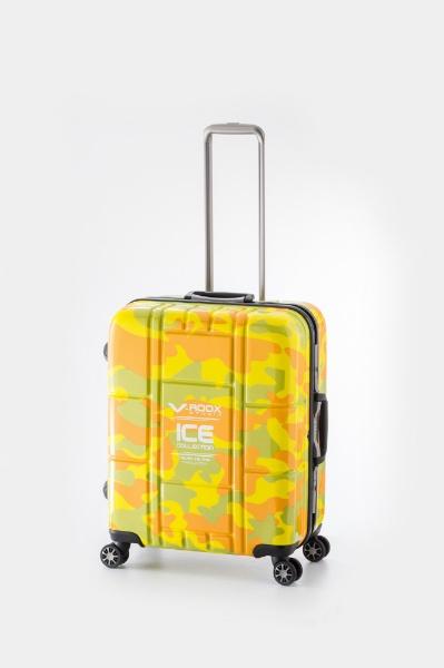 【送料無料】 A.L.I アジア・ラゲージ TSAロック搭載スーツケース ハードキャリー(84L) 59188 イエローカモフラージュ 【メーカー直送・代金引換不可・時間指定・返品不可】