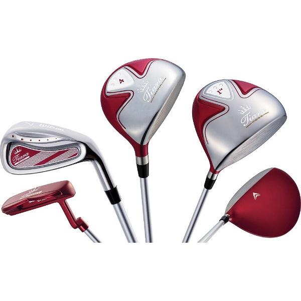 【送料無料】 ウィルソン レディース ゴルフクラブ Tiara MODA 6本セット レッド《Tiara MODA オリジナルカーボンシャフト》L