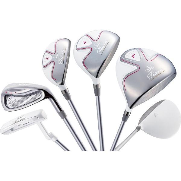 【送料無料】 ウィルソン レディース ゴルフクラブ Tiara MODA 8本セット ホワイト《Tiara MODA オリジナルカーボンシャフト》L