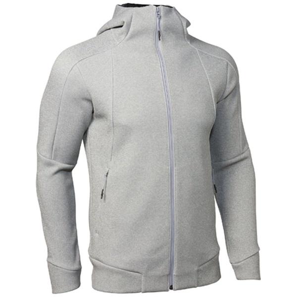 【送料無料】 アンダーアーマー メンズ フーディ UA Knit FZ Hoody(MDサイズ/True Gray Hiather×Rhino Gray)1313485