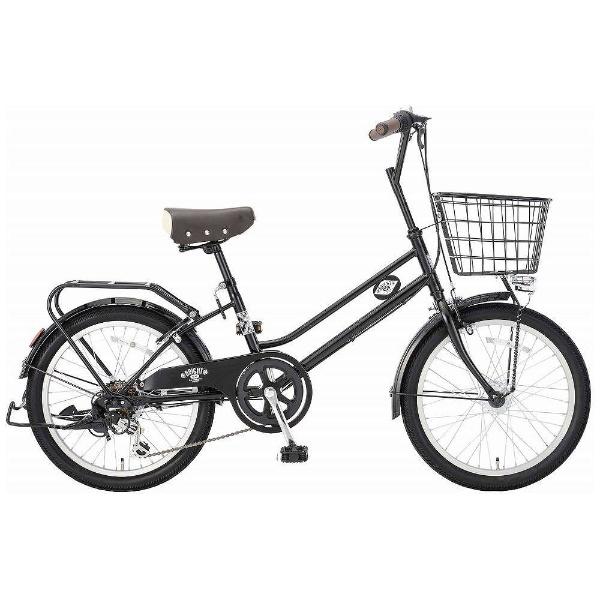 【送料無料】 アサヒサイクル 20型 自転車 ブライトディ206(ブラック/外装6段変速) FSM206【2018年モデル】【組立商品につき返品不可】 【代金引換配送不可】【メーカー直送・代金引換不可・時間指定・返品不可】