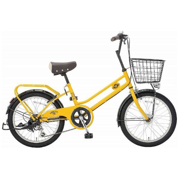 【送料無料】 アサヒサイクル 20型 自転車 ブライトディ206(MEイエロー/外装6段変速) FSM206【2018年モデル】【組立商品につき返品不可】 【代金引換配送不可】【メーカー直送・代金引換不可・時間指定・返品不可】