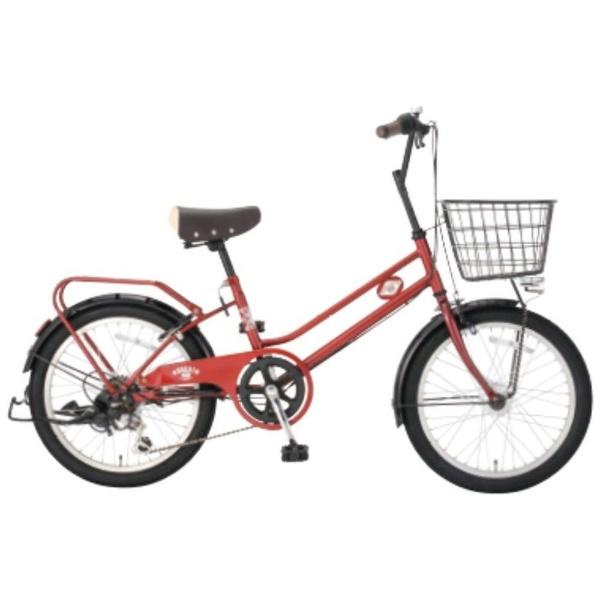 【送料無料】 アサヒサイクル 20型 自転車 ブライトディ206(SPMレッド/外装6段変速) FSM206【2018年モデル】【組立商品につき返品不可】 【代金引換配送不可】【メーカー直送・代金引換不可・時間指定・返品不可】