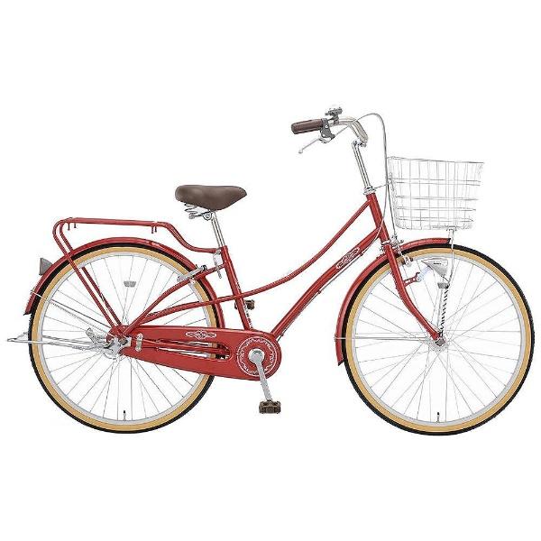 【送料無料】 アサヒサイクル 26型 自転車 カシュクール263HD(レッド/内装3段変速) TLEB6Q【2018年モデル】【組立商品につき返品不可】 【代金引換配送不可】【メーカー直送・代金引換不可・時間指定・返品不可】