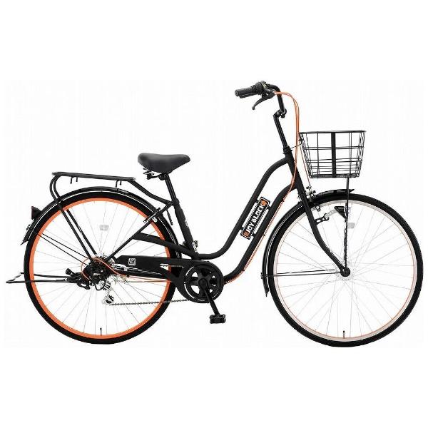 【送料無料】 アサヒサイクル 27型 自転車 ジョイブロック276S(ブラック/オレンジ/外装6段変速) FJC76S【2018年モデル】【組立商品につき返品不可】 【代金引換配送不可】【メーカー直送・代金引換不可・時間指定・返品不可】