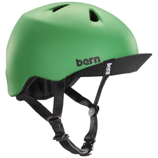 【送料無料】 BERN 子供用ヘルメット NINO ALL SEASON (Matte Kelly Green/ XS-Sサイズ:48~51.5cm) BE-VJBMGV-11