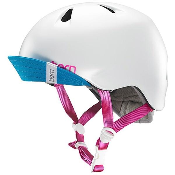 【送料無料】 BERN 子供用ヘルメット NINA ALL SEASON (Satin White/ S-Mサイズ:51.5~54.5cm) BE-VJGSWTV-12