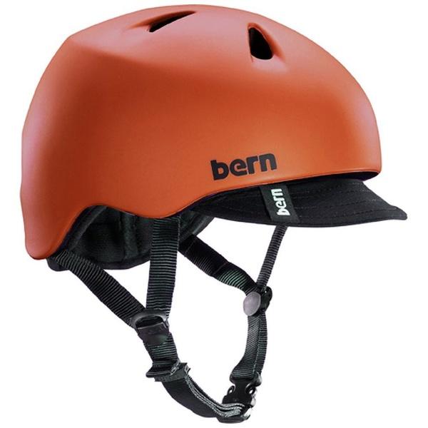 【送料無料】 BERN 子供用ヘルメット NINO ALL SEASON (Matte Red/ XS-Sサイズ:48~51.5cm) BE-VJBMRV-11