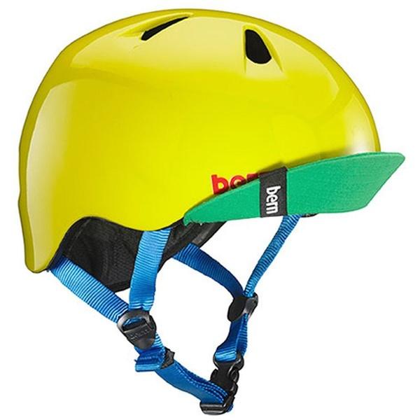 【送料無料】 BERN 子供用ヘルメット NINO ALL SEASON (Gloss Yellow Green/ S-Mサイズ:51.5~54.5cm) BE-VJBGYLV-12