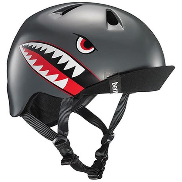 【送料無料】 BERN 子供用ヘルメット NINO ALL SEASON (Satin Grey Flying Tiger/ XS-Sサイズ:48~51.5cm) BE-VJBSGFV-11