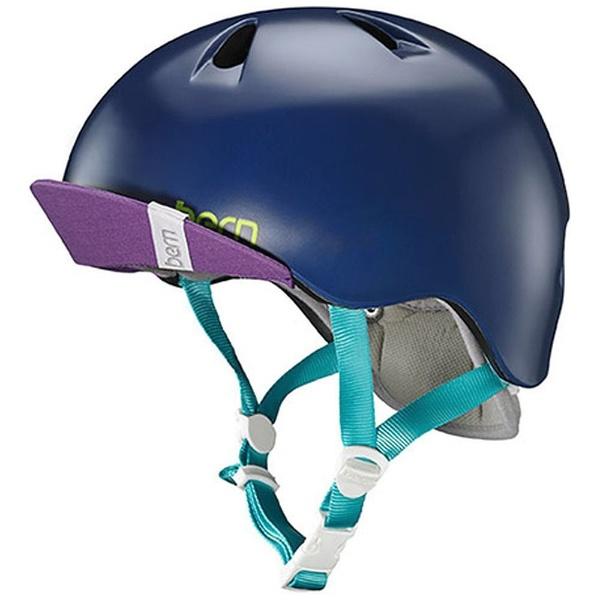 【送料無料】 BERN 子供用ヘルメット NINA ALL SEASON (Satin Navy Blue/ XS-Sサイズ:48~51.5cm) BE-VJGSNYV-11