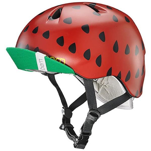 【送料無料】 BERN 子供用ヘルメット NINA ALL SEASON (Satin Red Strawberry/ S-Mサイズ:51.5~54.5cm) BE-VJGSRSV-12