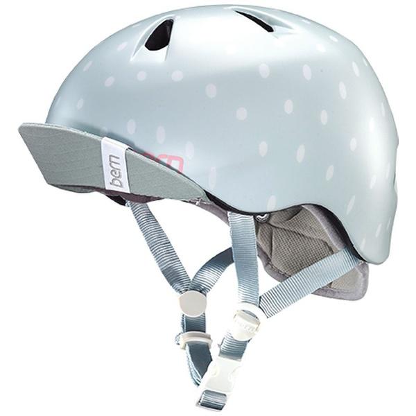 【送料無料】 BERN 子供用ヘルメット NINA ALL SEASON (Satin Seaglass Polka Dot/ XS-Sサイズ:48~51.5cm) BE-VJGSSPV-11