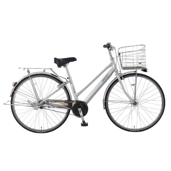 【送料無料】 MARUKIN 27型 自転車 スワンキーベルトシティ273-K(シルバー/内装3段変速) MK-18-001【2018年モデル】 【代金引換配送不可】【メーカー直送・代金引換不可・時間指定・返品不可】