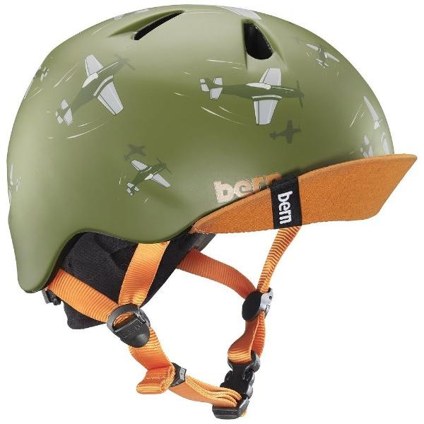 【送料無料】 BERN 子供用ヘルメット NINO ALL SEASON (Matte Green Dogfight/ XS-Sサイズ:48~51.5cm) BE-VJBMGDV-11