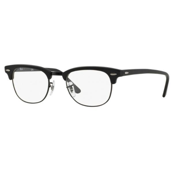 【送料無料】 レイバン RayBan 【度付き】RayBan メガネセット CLUBMASTER(マットブラック)RX5154 2077 49mm[超薄型/屈折率1.67/非球面]