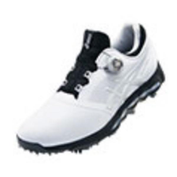 【送料無料】 アシックス メンズ ゴルフシューズ GEL-ACE PRO X Boa(26.0cm/ホワイト×シルバー/3E) TGN922