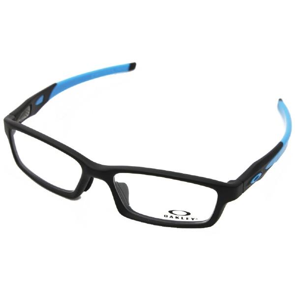 【送料無料】 オークリー 【度付き】OAKLEY メガネセット CROSSLINK(サテンブラック)OX8118-0156[薄型/屈折率1.60/非球面/PCレンズ][薄型/屈折率1.60/非球面/PCレンズ]