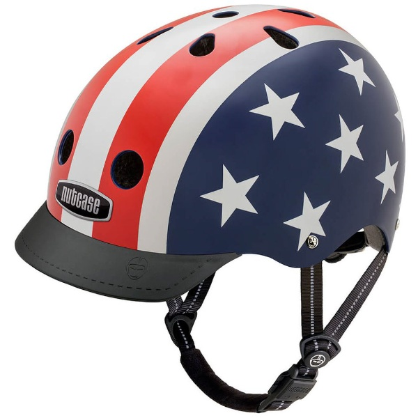 【送料無料】 NUTCASE 自転車用ヘルメット Street Helmet(スターズ&ストライプス/Mサイズ:56~60cm)