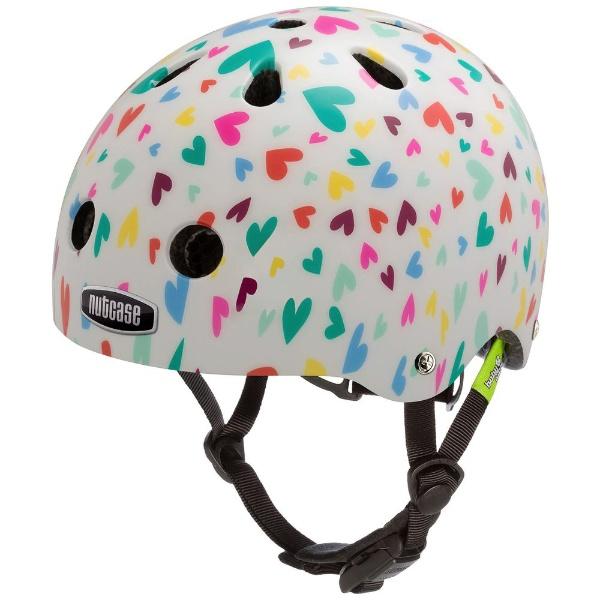 【送料無料】 NUTCASE 幼児用ヘルメット Baby Nutty(ハッピーハーツ/XXSサイズ:47~50cm)
