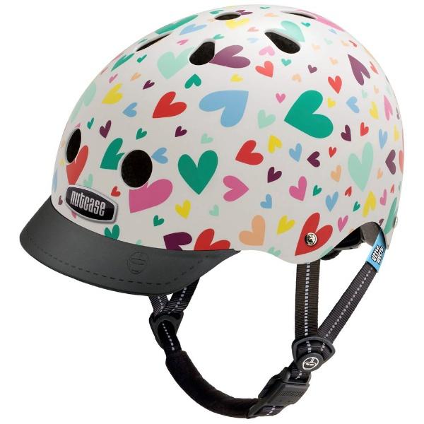 【送料無料】 NUTCASE 子供用ヘルメット Little Nutty(ハッピーハーツ/XSサイズ:48~52cm)