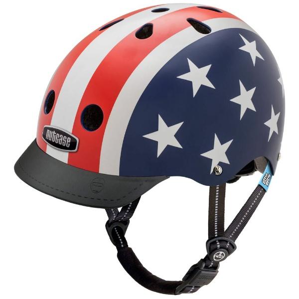 【送料無料】 NUTCASE 子供用ヘルメット Little Nutty(スターズ&ストライプス/XSサイズ:48~52cm)